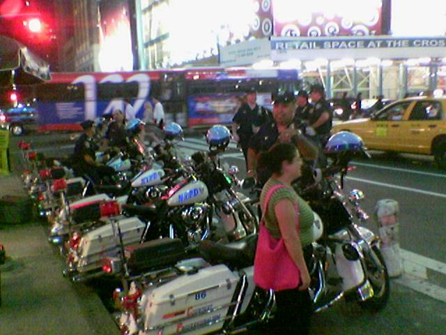 police ride harleys!