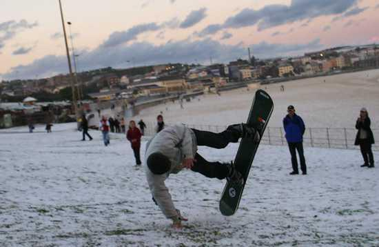 snowboarding at bondi beach?