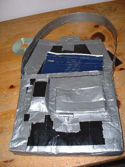 bag made from duct tape
