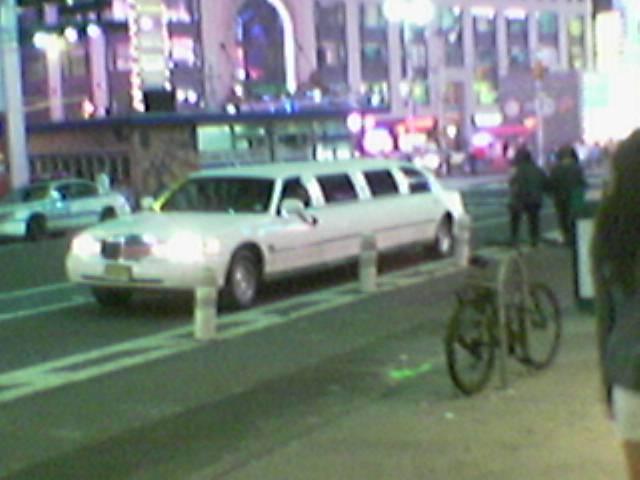 boring white limo