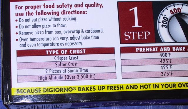bizzare pizza instructions