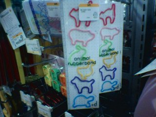 animal rubber bands
