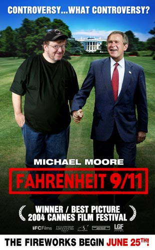 fahrenheit 9/11 - temperature at which freedom burns